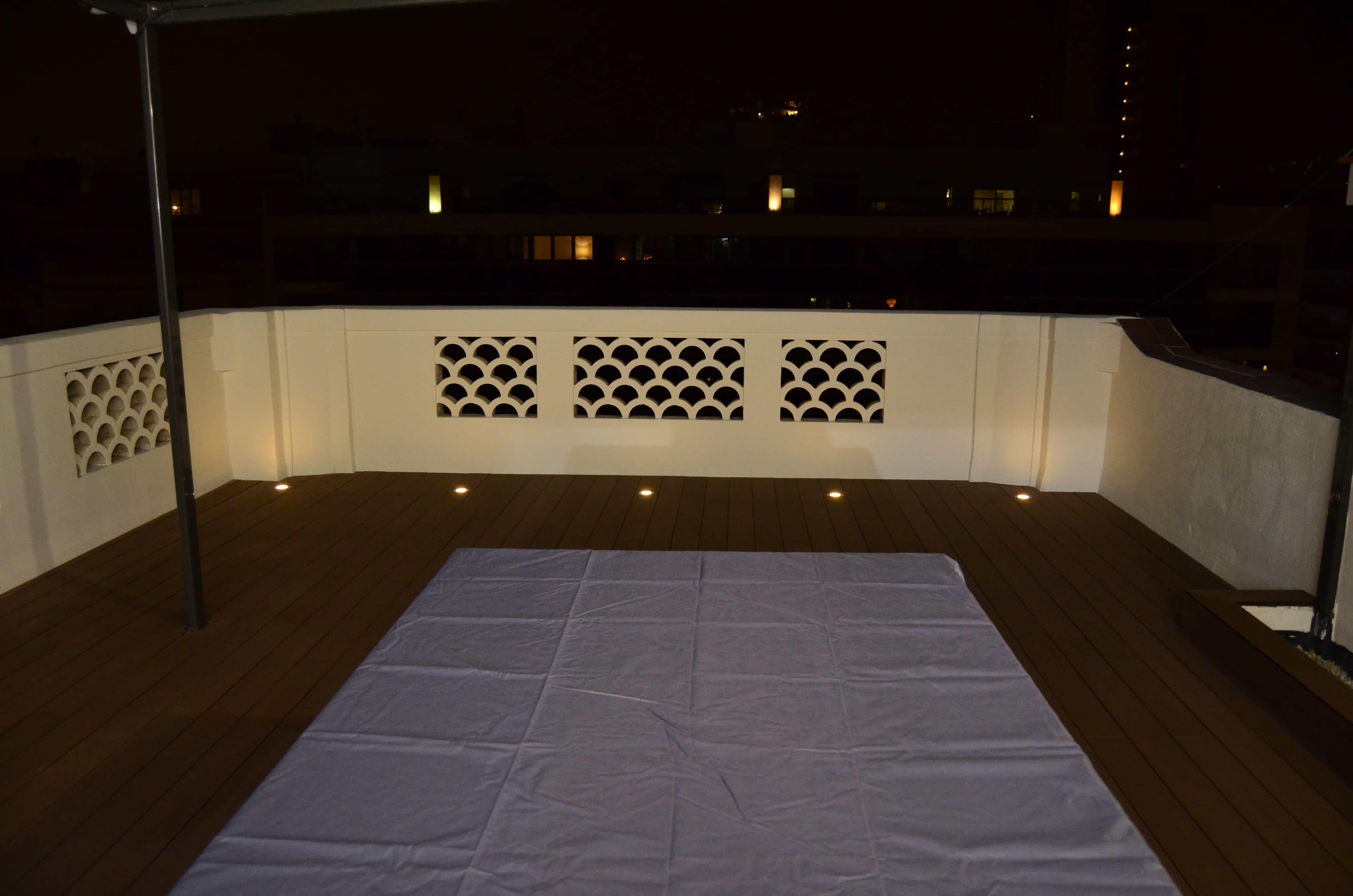 Iluminación terraza Josep Tarradellas